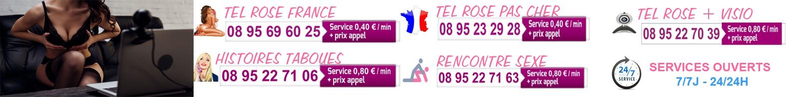 Hôtesses françaises de tél rose amateur